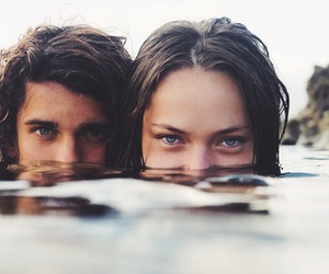love, couple, and eyes image