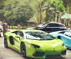 car, Lamborghini, and green image