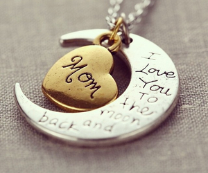 mom, love, and necklace image