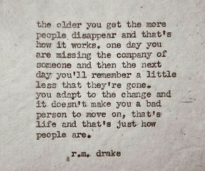 quote, r.m. drake, and life image