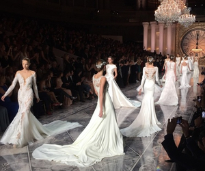 catwalk, dress, and models image