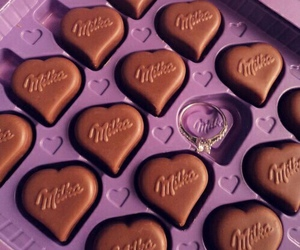milka, chocolate, and ring image