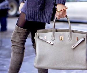 bag, fashion, and hermes image
