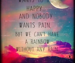 rainbow, happy, and rain image