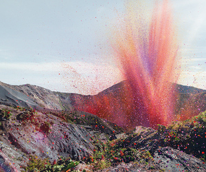 flowers, volcano, and nature image