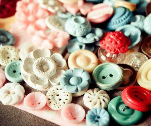 buttons, pastel, and vintage image