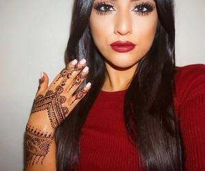 eyes, hair, and henna image