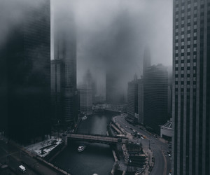 city and black image