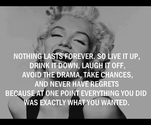 quote, live, and Marilyn Monroe image