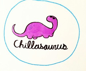 chill and dinosaur image