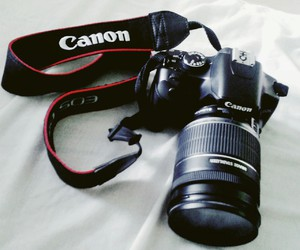 camera, canon, and picture image