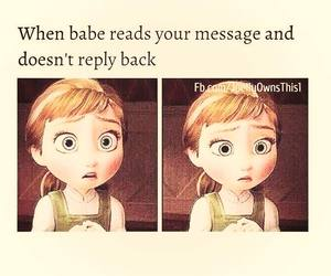 babe and message image