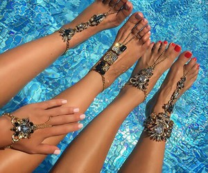 summer, nails, and accessories image