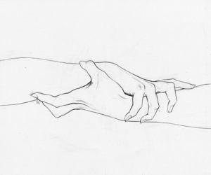 black and white, fine art, and holding hands image