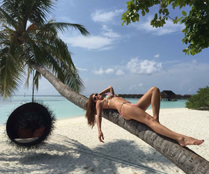 Maldives, beachgirl, and indianocean image