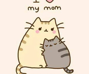 cat, mom, and cute image