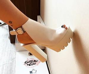 beautiful, heels, and model image