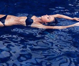 girl, bikini, and water image