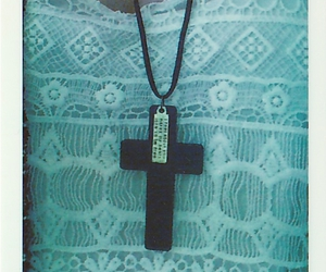 cross, necklace, and pale image