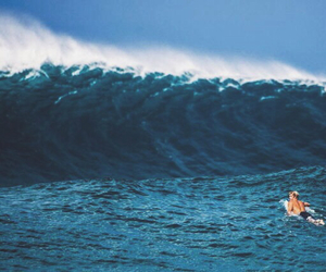 waves, ocean, and surfer image