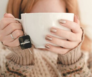 tea, nails, and autumn image