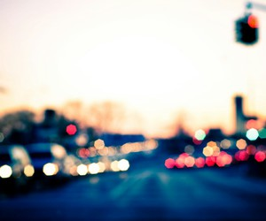 blurred, city, and colorful image