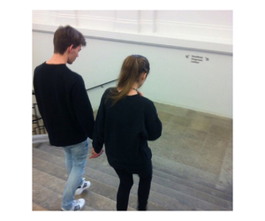 black jeans, black shirt, and girl and boy image