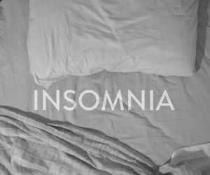 insomnia, bed, and sad image