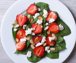 spinach salad and strawberry salad image