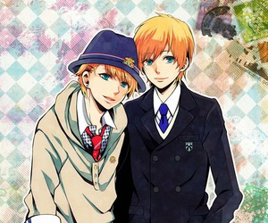 blond hair, blue eyes, and boy image