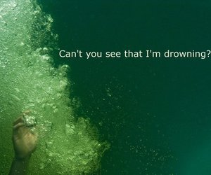 drowning and photography image