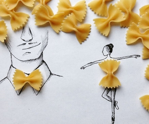 pasta, farfalle, and bow tie image