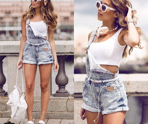 girl, outfit, and blonde image