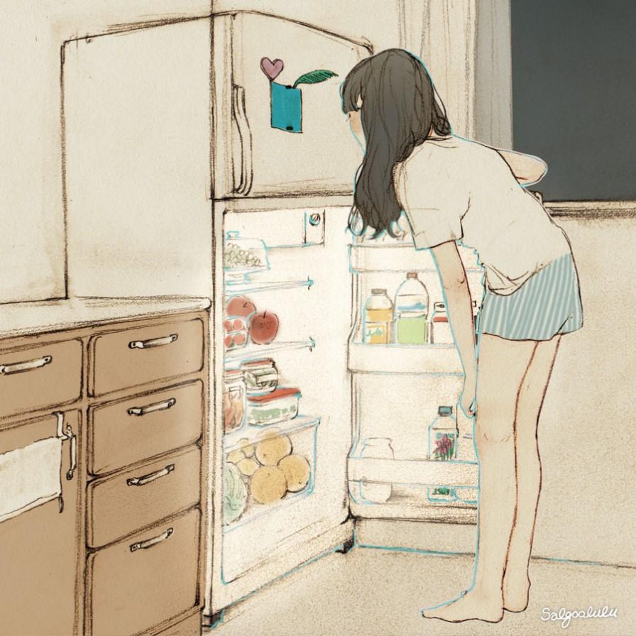 animation, anime food, and food anime image