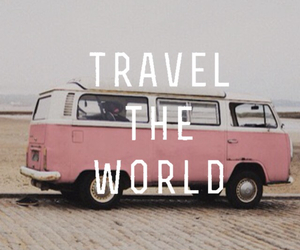 explore, pink, and travel image