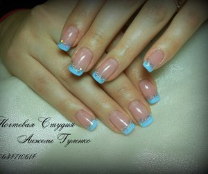 french, gel, and nails image