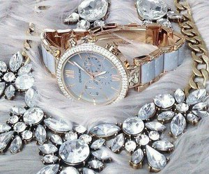 accessories, necklace, and watch image