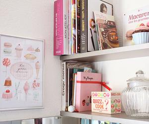 book, cupcake, and pink image