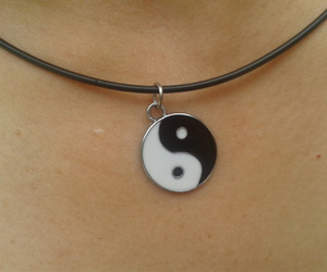 amor, collar, and yin yang image