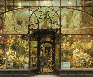 flowers, Art Nouveau, and brussels image
