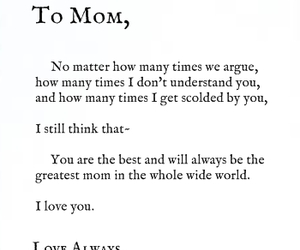 love, mom, and quotes image