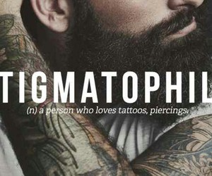 tattoo, piercing, and words image