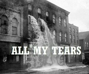 tears, sad, and black and white image