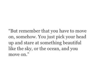 move on, quote, and sky image