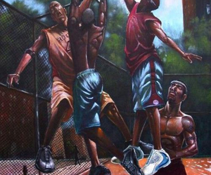 Basketball and art image
