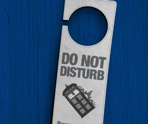 doctor who, tardis, and do not disturb image