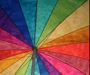 umbrella, colorful, and rainbow image