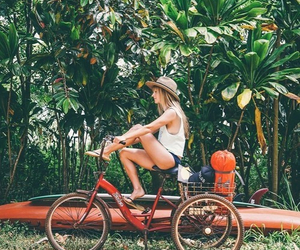summer, girl, and tropical image