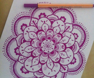 drawing and purple image