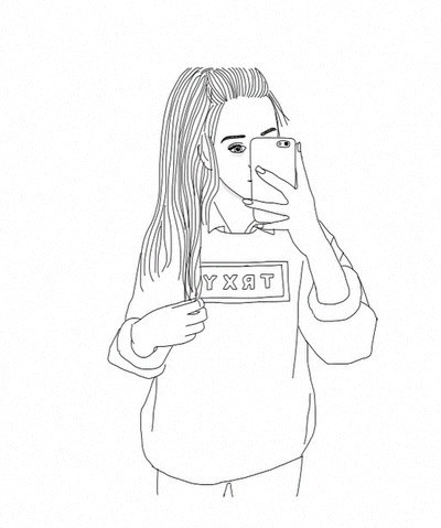32 Images About Draw Tumblr On We Heart It See More About Outline